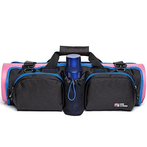 Acmebon Mehrzweck Faltbare Große Tragbare Yoga Tasche Schulter Sport Tasche für Herren und Damen Schwarz und blau 607