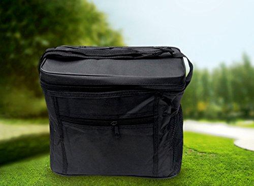 Mini Kühltasche in der Farbe schwarz Kühlbox Lunch Tasche Picknick-Tasche Beach Bag Lunch Box Picknicktasche Isoliertasche von der Marke PRECORN (Beach Mini Living)