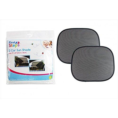 PACK DE 2 RIDEAUX PARE SOLEIL VITRE VOITURE POUR PROTECTION SOLEIL BEBE/ENFANT NOIR
