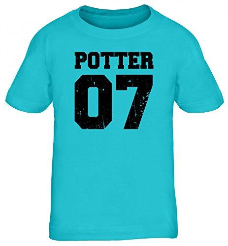 Fanartikel Fan Kult Film Trikot Kids Kinder T-Shirt Potter 07, Größe: 134/146,Türkis