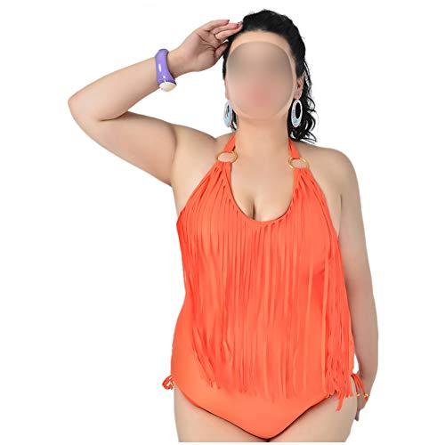 Haodasi Bikini Übergröße für Frau Weich EIN Stück Badebekleidung Offener Rücken Surfen Strand Badeanzug