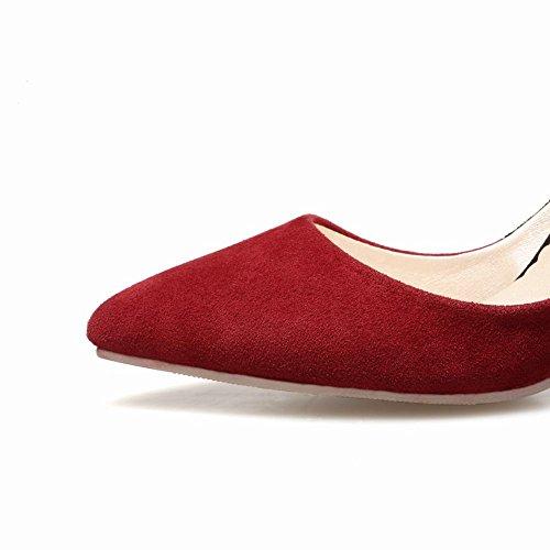 MissSaSa Donna Scarpe col Tacco Alto Piede Elegante Pumps rosso vino