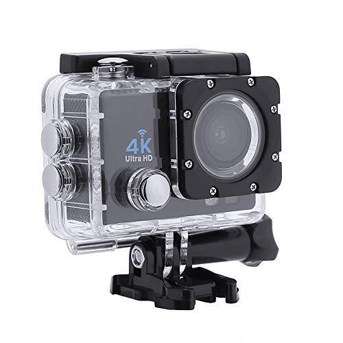 Action-Kameras, 4K DVR Portable 2,0 Zoll LCD 720P Wasserdichte Sportkameras mit Kleinen Box_Black -