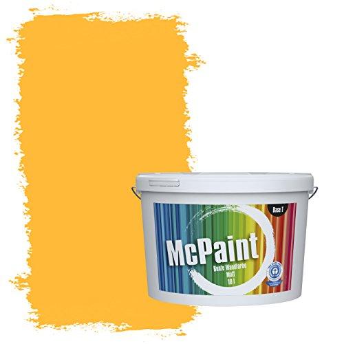 McPaint Bunte Wandfarbe Rapsgelb - 5 Liter - Weitere Gelbe Farbtöne Erhältlich - Weitere Größen Verfügbar