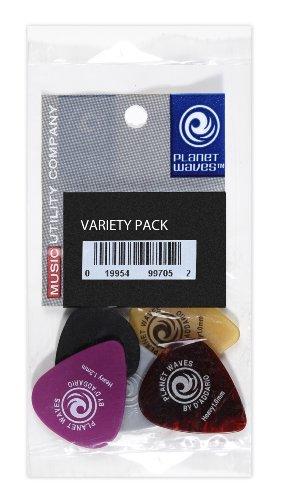 Planet Waves 1XVP4-5 Plektren Set Medium Variety Pack (5-er Pack) - Pack Plektren