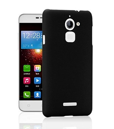 SDO™ Luxury Matte Finish Rubberised Slim Hard Case Back Cover for Coolpad Note 3 Lite - Black