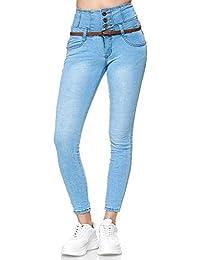 Elara Jeans Femme Taille Haute Skinny Fit Chunkyrayan 1577-3 Lt.Blue-36 (S)
