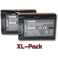 Set x 2 baterías vhbw 500mAh para videocámara Sony DCR-SX30E, DCR-SX31, DCR-SX31E, DCR-SX50, DCR-SX50E, HDR-CX6(EK), HDR-CX11(E), HDR-CX105