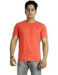 Basilio Men's Round Neck-Half Sleeves Cotton T-Shirt