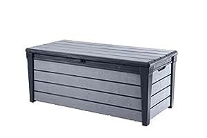 Häufig Keter Auflagen- und Universal Brushwood Box, 455 L, anthrazit UO89
