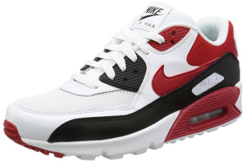 NIKE Air Max 90 Essential Trainers White 537384 129, Size:44