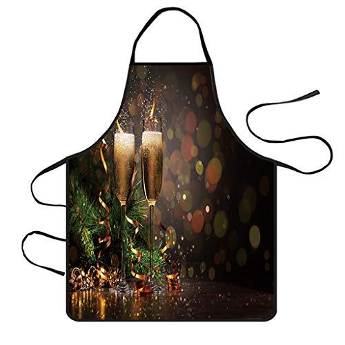 Myspace 2019 Dekoration für Christmas Weihnachtsschürze Küche Dekoration Wasserdichte Twill Polyester Schürze Küchenschürzen Dinner Party Schürze