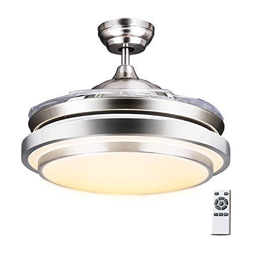 Luz del ventilador de techo con luz Fan control remoto Chandelier,Modern Fashion Retractable Blades...