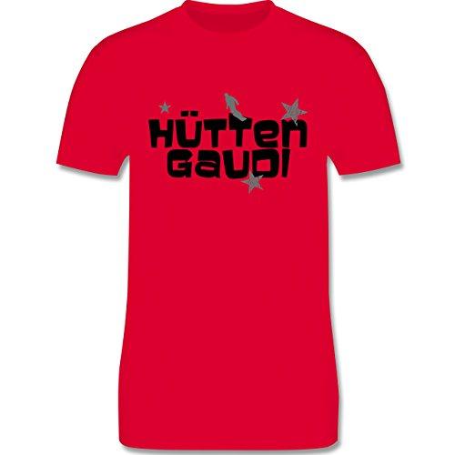 Après Ski - Hüttengaudi Snowboarder - Herren Premium T-Shirt Rot