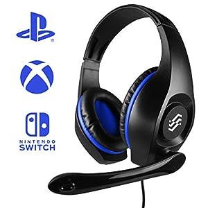 Twodots Storm Binaural Kopfband Schwarz, Blau Headset – Headsets (Spielekonsole, Binaural, Kopfband, Schwarz, Blau, Verkabelt, Nickel)