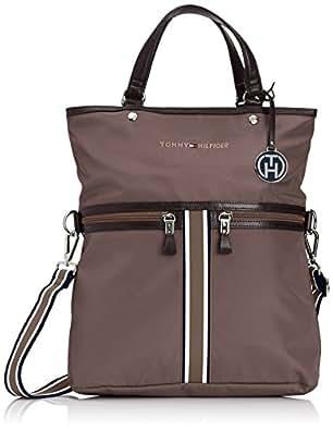 Tommy Hilfiger PETRA TOTE BW56924799 Damen Shopper 32x38x10 cm (B x H x T), Braun (MINK 906)