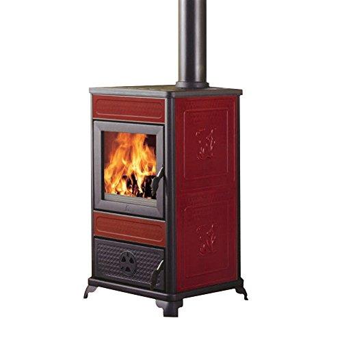 Edilkamin Stufa termostufa a legna 11Kw riscaldamento acqua casa...