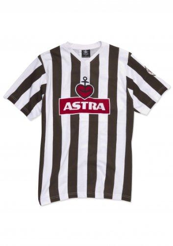 FC St. Pauli Traditions-Shirt Astra T-Shirt braun/weiß XXL -