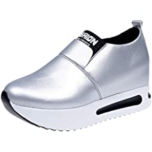 LuckyGirls Cuñas Zapatos de Mujer Zapatillas de Suela Gruesa Slip-On Sneakers Calzado Deportivo (