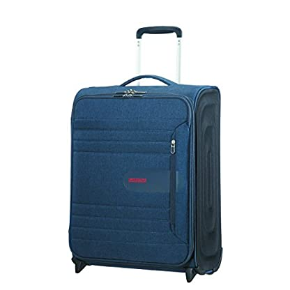 American Tourister Sonicsurfer – Upright 55/20 Equipaje de mano, 55 cm, 43 liters, Azul (Midnight Navy)