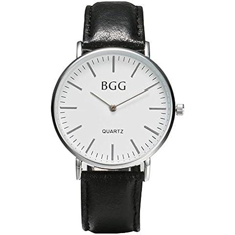 reloj de los hombres, FEITONG los hombres quemados banda de cuero relojes negocio deporte analógico de cuarzo reloj de pulsera de la