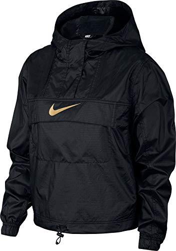Nike Damen W NSW WVN ANML Jacket, Black/Club Gold, M