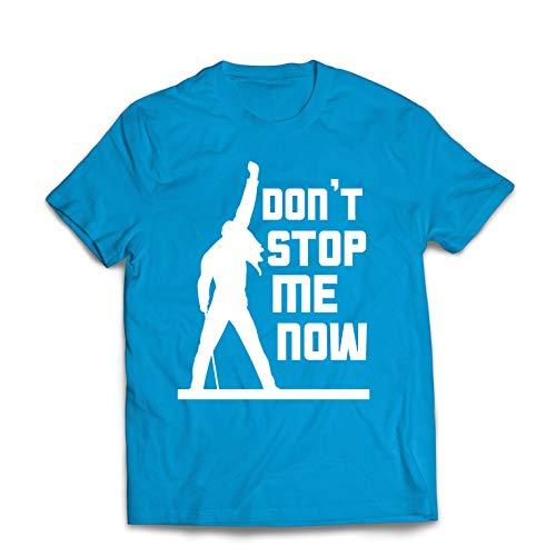 lepni.me Männer T-Shirt Don't Stop me Now! Fan Shirts, Musiker Geschenke, Rock Kleidung (X-Large Blau Mehrfarben)