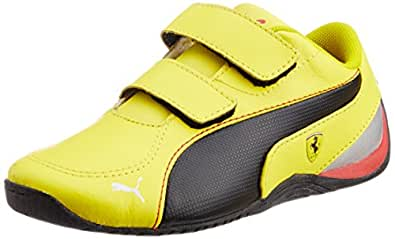 Puma Unisex Drift Cat 5 L SF V Kids Vibrant Yellow and Black Leather Sports Shoes - 11C UK