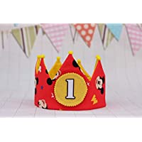 Corona de tela para cumpleaños decoración infantil regalo niños