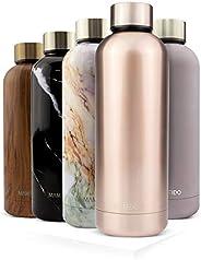 MAMEIDO Borraccia Termica Acciaio Inox, Bottiglia Termos Acqua 500ml 750ml, Riutilizzabile, Senza BPA, per Adu