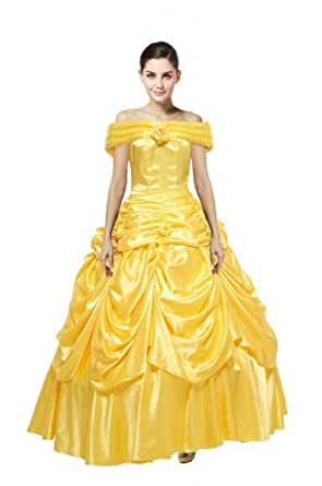 Beauty and the Beast Belle Evening Gown Dress Cosplay Costume Tailor made