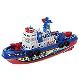 Dabixx Elektrisches Boot, Elektroboot Kinder Marine Rescue Toys Navigation Kriegsschiff Spielzeug Geburtstagsgeschenk
