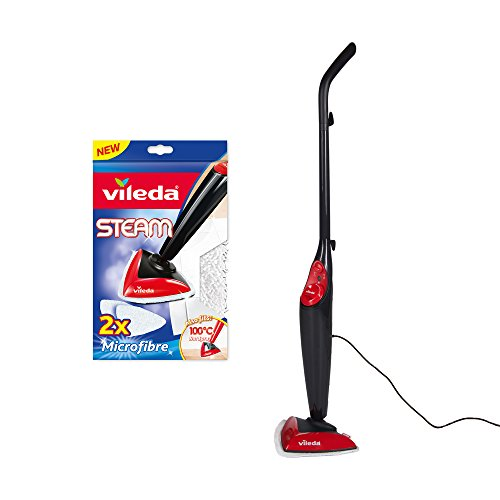 Vileda Steam Mop with Steam Mop Replacement Pads - Pack of 2