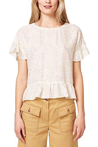 ESPRIT Damen 048EE1F020 Bluse, Mehrfarbig (Off White 110), 44 -
