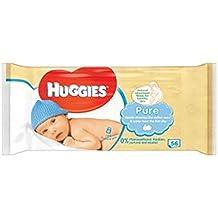 Huggies Toallitas Húmedas Individuales Puros 56S (Paquete ...
