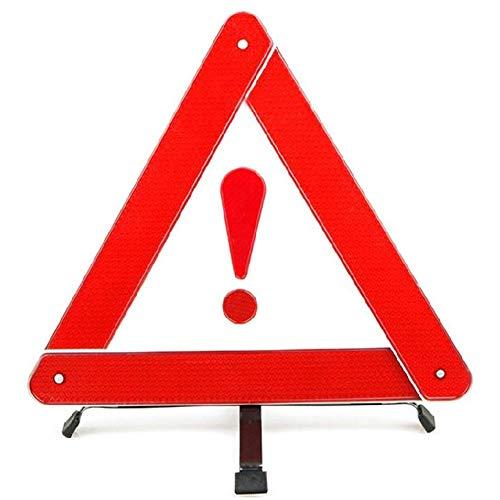 JoyFan Dreieck Warnschild in hohem Grade reflektierender Sicherheits-tragbarer Notfall reflektierende Auto-Versorgungsmaterialien (rot)