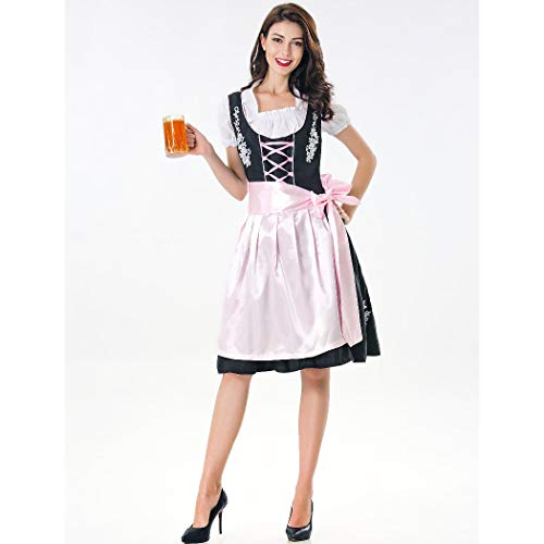 Special Bridal Frauen-Bier-Rosa-Kostüm Halloween Fancy German Oktoberfest Sexy Beer Girl Costume