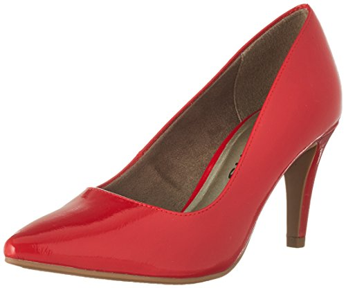 Tamaris Damen 22447 Pumps, Rot (Chili Patent), 36 EU