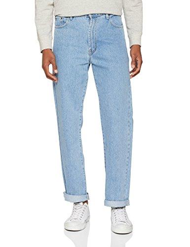 Bleach Wash Denim (Enzo Herren BCB2 Straight Jeans, Bleach Wash Blue, 32 W/34 L)