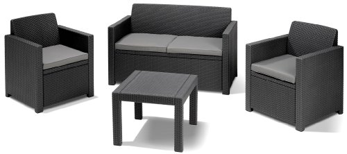 Allibert Lounge-Set Alabama 4tlg, graphit/cool grey