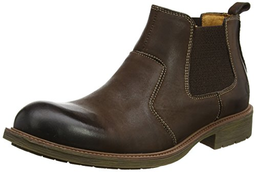 Chatham Men's Logan Chelsea Boots, Brown (Dark Brown), 10 UK 44 EU