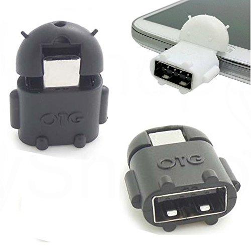 Preisvergleich Produktbild Micro USB OTG Adapter Micro-USB-Stecker USB Kupplung Buchse OTG Robot Tablet PC Für MEDION LIFETAB P10505 MD 99984 - Schwarz
