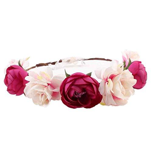 Damen Böhmen Haarband Elastische Stirnband in 5 Farben Blumen Turban Haarschmuck
