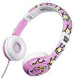 Mr Men, Little Miss and Friends MM0174 - Auriculares de diadema cerrados junior con función de seguridad de limite de volumen a 85 db para niños entre 3 y 7 años, diseño Little Miss Princess y rosa