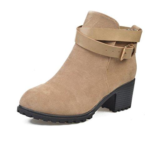 Jamicy Donne invernali tacco basso cintura caviglia fibbia Martin stivali scarpe Cachi Grandes Ofertas De Envío Gratis Ebay En Línea Precios Baratos En Línea xlQgJDY