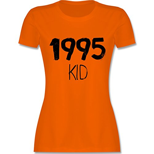 Geburtstag 1995 KID tailliertes Premium TShirt mit Rundhalsausschnitt für  Damen Orange