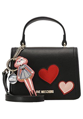 Love Moschino Girls & Heart crossbody black