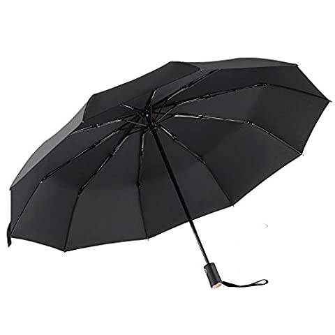 Parapluie Pliant ,Vectri 10 Ribs Parapluie Coupe Vent - 210T Parapluie Voyage, Comfort Handle - Ouverture et