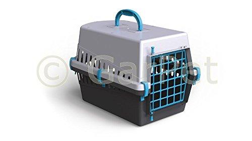 Hunde Katzen Kleintier Transportbox Transport Auto Box Korb Kennel (blau)