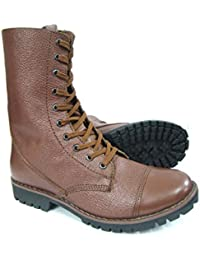 ASM Full Leather 10 Inches Long Boot, Leather Linning & Socks, Heavy Duty TPR (Thermo Plastic Rubber) Sole & Memory...